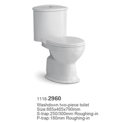 new cheap china guangdong ceramic automatic washdown two piece public women toilet