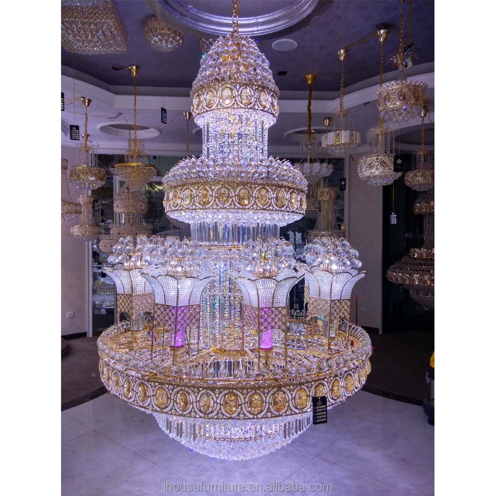 Guzhen Factory Newest Design Grand Led Crystal Chandelier Antique Style/Hanging Lamp/Crystal Droplight