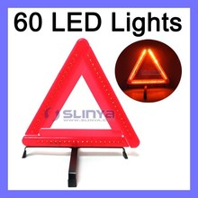 60 Red LED European Car Truck Necessity Safety Kit LED Warning Triangle
