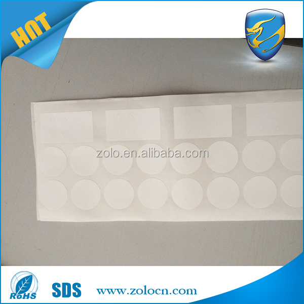 Custom Size 300mm-1200mm Wide Printable Anti-fake Security Vinyl Plastic Blank Eggshell Sticker Roll Sheet