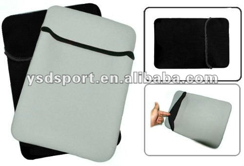8 - 10.1 inch Black / Grey Reversible Neoprene Pouch for iPad, Acer, Asus, Dell, HP, Samsung