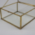 Clear Acrylic Storage Box With Vintage Golden Metal Frame For Jewelry