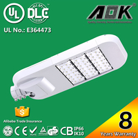 IP66 IK10 UL DLC CE RoHS Modular Design 120lm/w 100W 120W LED Street Light