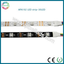 White pcb, waterproof ip65 30leds/m dc5v led ribbon apa102