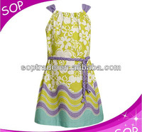 new model flower girl dress patterns , new fashion casual india print dress