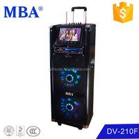 MBA 2015 Newest Dual 10 portable audio professional musical speaker,mobile speaker box with DVD