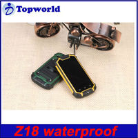 Shockproof Dustproof Mobile Phone Z18 Android 4.0.4 waterproof 2.0MP rear camera 2.5 inch MTK6572 daul core