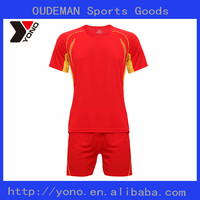 Online soccer jersey store best selling customized red color soccer jersey