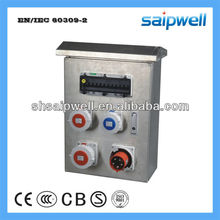 Power Socket Box With 16 A 5P Pannel Mounted Socket