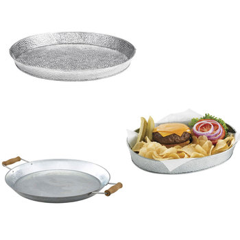 Table Presentation Food Galvanized Sharing Platters Serving Bucket Trays