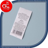 Cheap price as roll customized tyvek paper washable garment care label