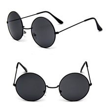 DLL032 retro style mirror lens metal frame round fashion sunglasses