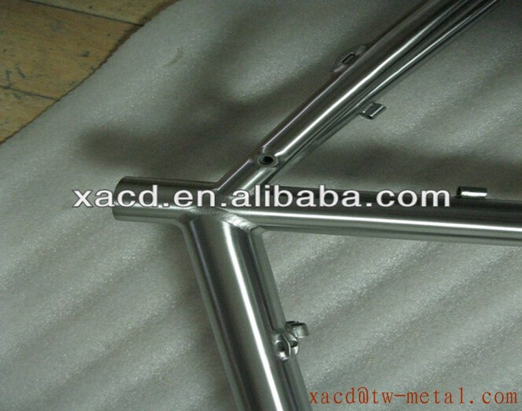 Titanium tandem frame with double seat tube custom titanium bicycle tandem frame using on tandem bike