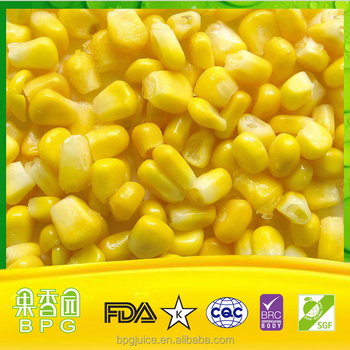 IQF Sweet Corn,quick-freezen fresh fruit