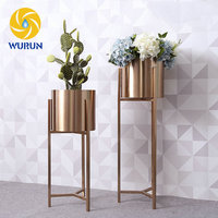 Metal Iron Steel Decoration Standing Shelf Tall Floral Stands Indoor Plant Rack