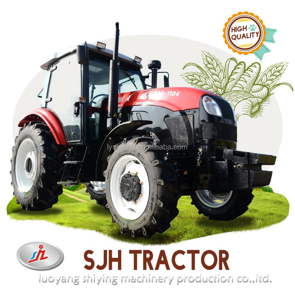 100hp 4wd agriculture wheel tractor with hydraulic steering system