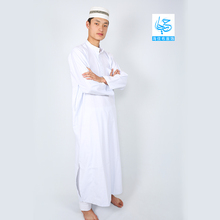 Designer Wear Polyester Arab Thobe Thawb Shiny Jubbah Men Islamic Clothing