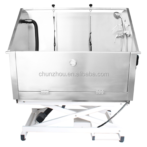2015 Electric Lifting Dog Bathing stainless steel bath tub from factory direct supply H-105E