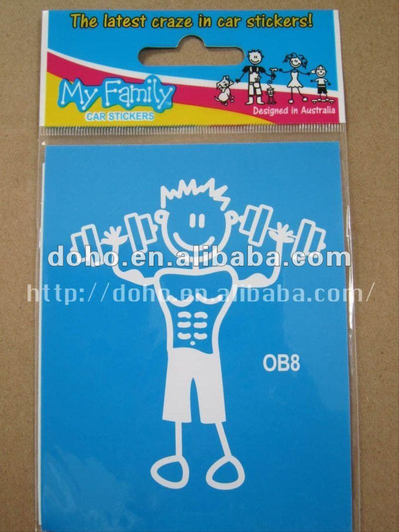 Family Car Sticker Auto Decal(OB8) --DH 7860