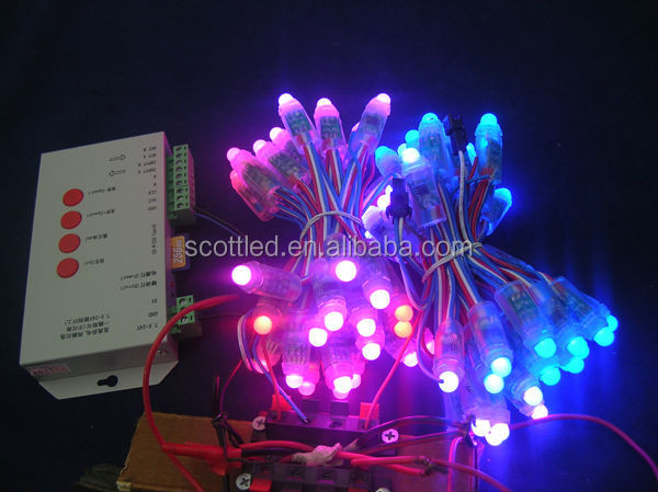 12mm WS2811 christmas decorations led string light,DC5V input,50pcs a string;round shape