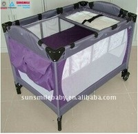 EN standard plastic baby playpen with mesh fabric, 4 in 1 baby crib,luxury baby play yard