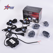 9W RGB 4 led rock light kits cars jeep road truck boat/4 pcs set rgb led rock light/atv led rock light 4 pods