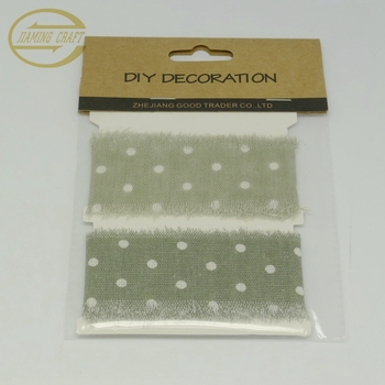 wholesale Professional linen drawstring printed jute ribbon