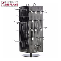 Counter rotating display stand, body piercing jewelry display stand, pendant jewelry display