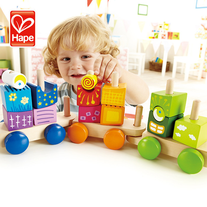 Encourage trying new configurations kids train wooden toys wholesale
