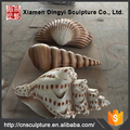 Fiberglass conch shell sculpture for garden decoration