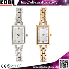 2017 Korean style alloy bracelet slim square case ladies watches