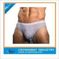 soft sexy cotton gray color mens underwear boxer briefs