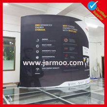 discount curved indoor tradeshow booth design