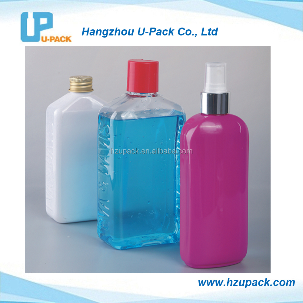 20ml-500ml Oval and square PET bottles for cosmetic plastic package