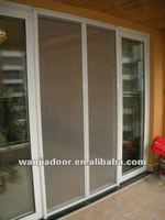 invisible mosquito net/insect screen/fly screen pvc sliding doors