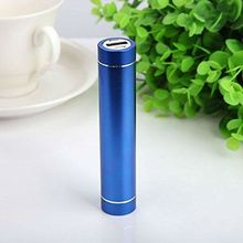 Promotional Battery Charger mini power bank 1800mAh Mini Portable USB Power Bank Tube External Charger with LED light