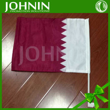 new car flags with normal pole custom cheap print national day qatar double car window hood flag