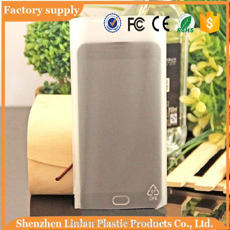 Shenzhen manufacturer cpe plastic packaging bag for mobile phone factory wholesale
