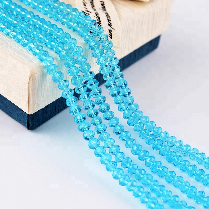Faceted Rondelle Beads in Crystal