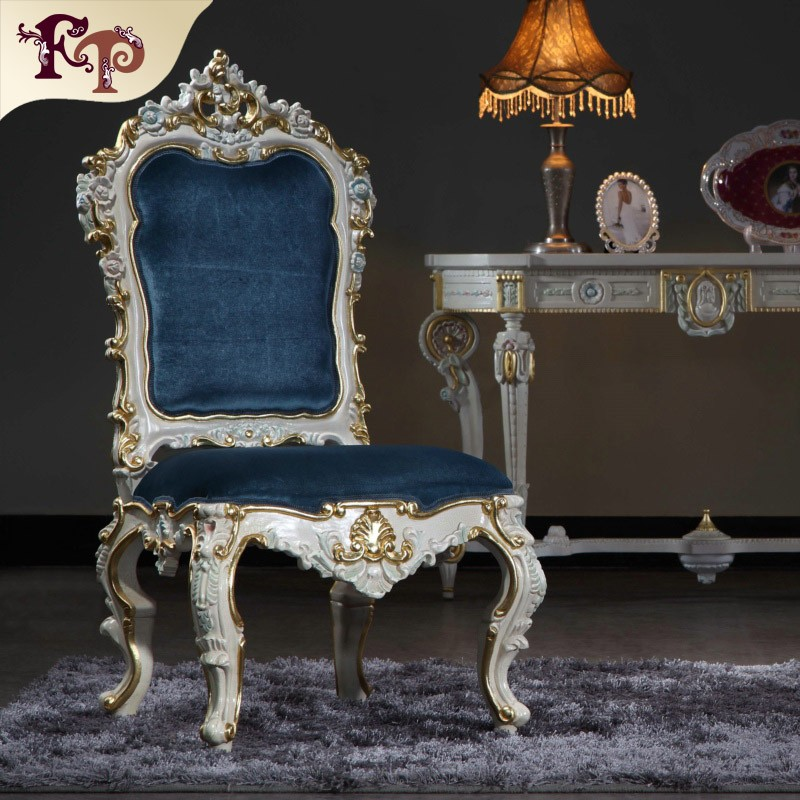victorian style furniture Rubber wood dining room furniture chair