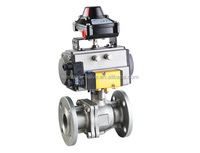 Carbon steel ball valve / 2-pc Flanged Floating Ball Valve With Mounting Pad Din Pn16&25&40
