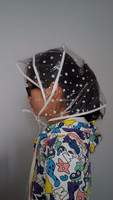 CE certified Hot selling waterproof hat Bath hat Rain hood Rain headwear Rain bonnet