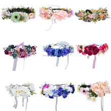 Girl's Large Flower Headband Hair Crown Summer Wedding Festival Party Hair band KA1422