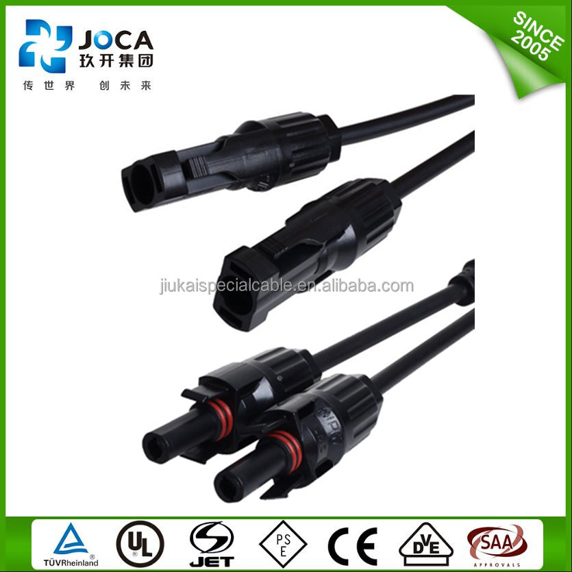 High quality mc3 mc4 cable plug solar pv connector cable TUV CE approved,UV resistance,Waterproof solar panel