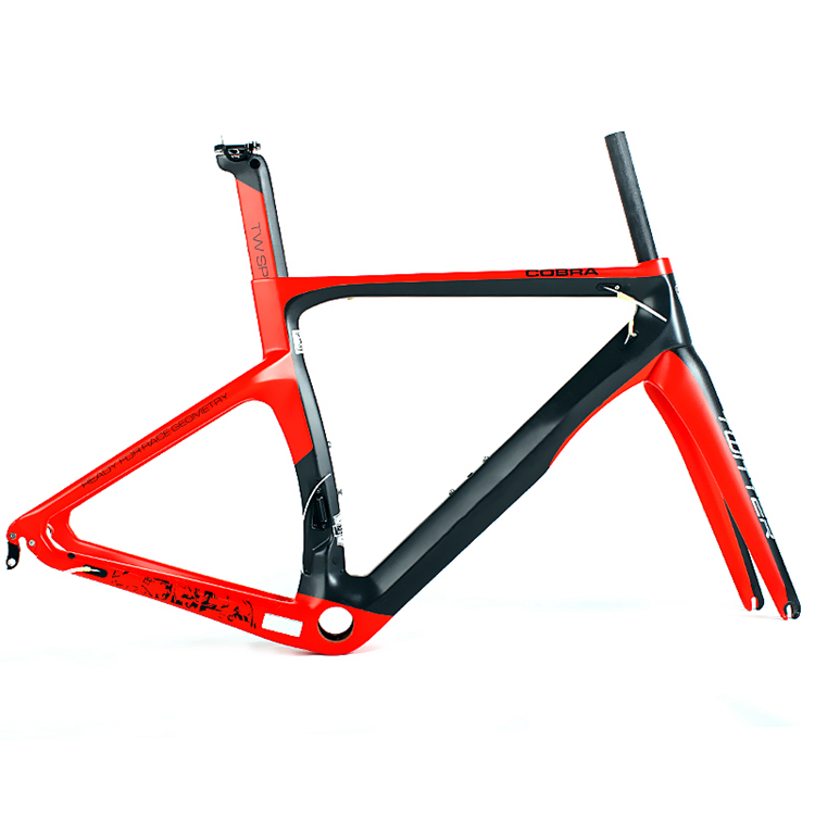 Chinese supplier oem superlight carbon t1000 road bike frame with 48cm 54cm size