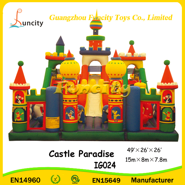 49'x26'x26' New Manufacturing Factory Prices Fairy tale Giant Inflatable Combo Bouncy Castle, Inflatable Jumping Castle