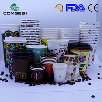 Cool Disposable Cups Double Coated Large