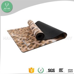New trending full color sublimation home made printed rubber travel yoga mat