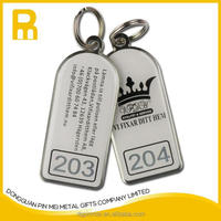 cheap custom logo hotel key tags / motel room key tags with unique id code