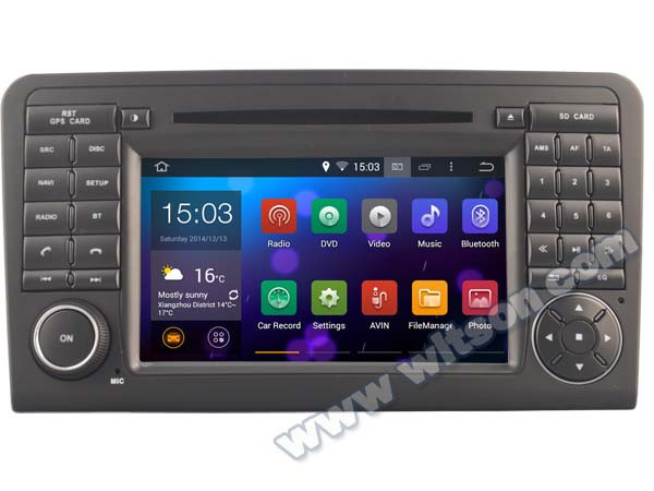 WITSON Android 4.4 DVD HEAD UNIT FOR MERCEDES-BENZ GL X164 DVR 3D MAP 1.6GHZ Frequency 1080P HD VIDEO